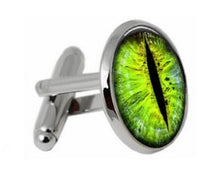 Load image into Gallery viewer, Dragon Eye Cufflinks - Crazy Cuffs