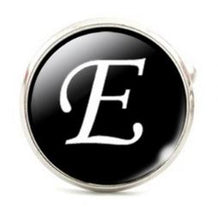Load image into Gallery viewer, Small Silver Plated Single Letter (E) Cufflink - Crazy Cuffs