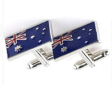 Load image into Gallery viewer, Classic Australian Flag Cufflinks - Crazy Cuffs