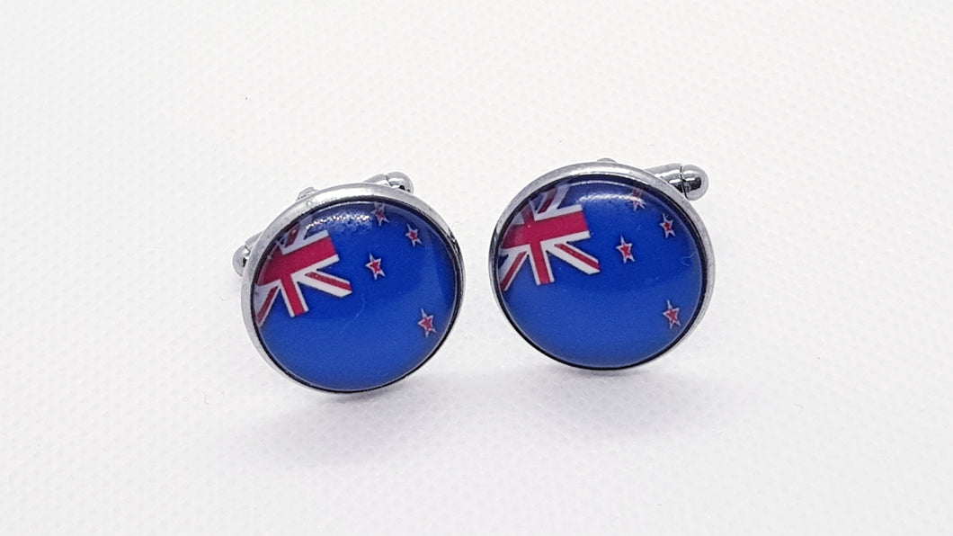 Classic New Zealand Flag Cufflinks - Crazy Cuffs