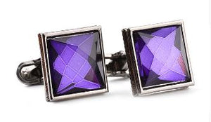 Gun Metal Grey Square Cufflinks - Crazy Cuffs
