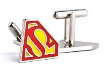 Load image into Gallery viewer, Classic Superman Themed Cufflinks - Crazy Cuffs