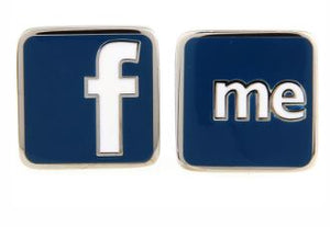 facebook themed Cufflinks - Crazy Cuffs