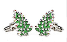 Load image into Gallery viewer, Christmas Tree Cufflinks - Crazy Cuffs