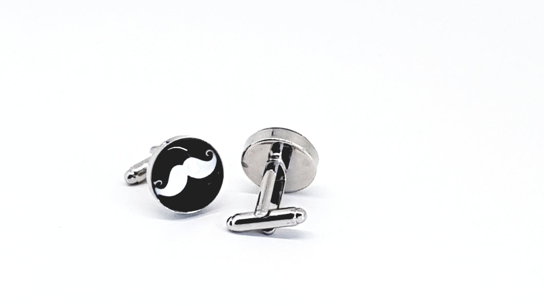 Mustache Cufflinks (Movember) - Crazy Cuffs
