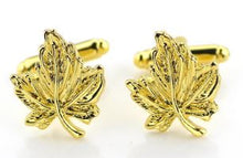 Load image into Gallery viewer, Gold Maple Leaf Cufflinks - Crazy Cuffs