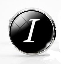 Load image into Gallery viewer, Small Silver Plated Single Letter (I) Cufflink - Crazy Cuffs