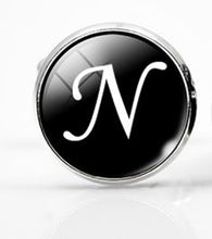 Load image into Gallery viewer, Large Silver Plated Single Letter (N) Cufflink - Crazy Cuffs