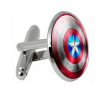 Load image into Gallery viewer, Captain America Shield Cufflinks - Crazy Cuffs