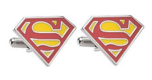Classic Superman Themed Cufflinks - Crazy Cuffs