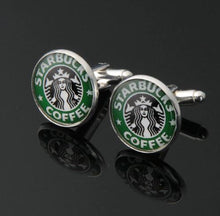 Load image into Gallery viewer, Starbucks Coffee Cufflinks - Crazy Cuffs