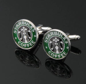 Starbucks Coffee Cufflinks - Crazy Cuffs
