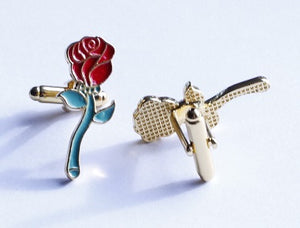 Beauty and the Beast Rose Cufflinks - Crazy Cuffs