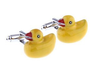 Yellow Duck Cufflinks - Crazy Cuffs
