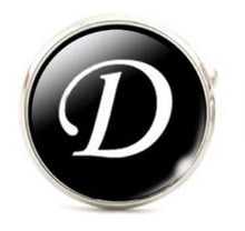 Load image into Gallery viewer, Small Silver Plated Single Letter (D) Cufflink - Crazy Cuffs