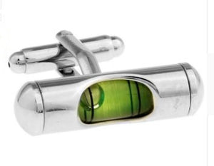 Green Level (Functional) Cufflinks - Crazy Cuffs