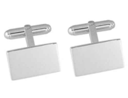 Silver Rectangle Cufflinks - Crazy Cuffs