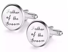 Load image into Gallery viewer, Father of the Groom Cufflinks - Crazy Cuffs