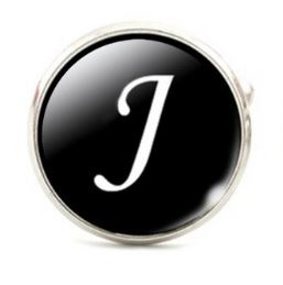 Small Silver Plated Single Letter (J) Cufflink
