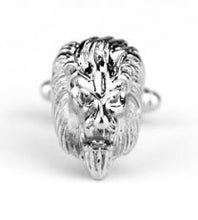Load image into Gallery viewer, Silver Plated Lions Head Cufflinks - Crazy Cuffs