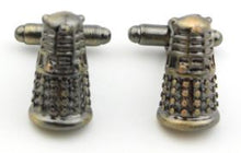 Load image into Gallery viewer, Classic Doctor Who Vintage Dalek Cufflinks - Crazy Cuffs