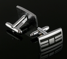 Load image into Gallery viewer, Silver and black Cufflinks - Crazy Cuffs