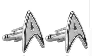 Star Trek Cufflinks plus Matching Tie Pin - Crazy Cuffs