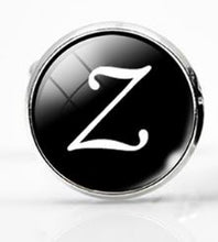 Load image into Gallery viewer, Large Silver Plated Single Letter (Z) Cufflink - Crazy Cuffs