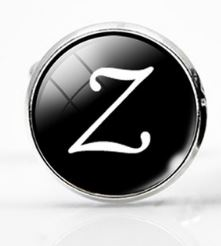 Large Silver Plated Single Letter (Z) Cufflink - Crazy Cuffs
