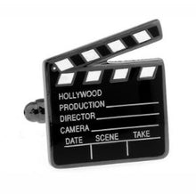 Load image into Gallery viewer, Lights, Camera, Action - Hollywood Themed Cufflinks - Crazy Cuffs