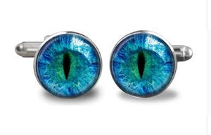 Dragon Eye Glass Cufflinks - Crazy Cuffs