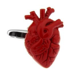 Wear Your Heart On Your Sleeve - Cufflinks - Crazy Cuffs