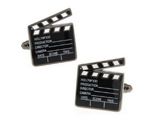 Lights, Camera, Action - Hollywood Themed Cufflinks - Crazy Cuffs