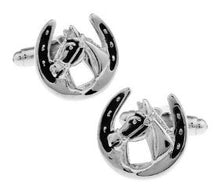 Load image into Gallery viewer, Lucky Horse Shoe Cufflinks - Crazy Cuffs