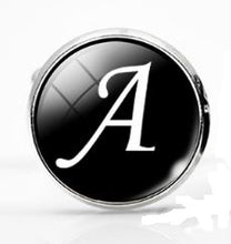 Load image into Gallery viewer, Large Silver Plated Single Letter (A) Cufflink - Crazy Cuffs