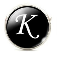 Load image into Gallery viewer, Small Silver Plated Single Letter (K) Cufflink - Crazy Cuffs