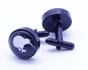 Black New Zealand Kiwi Cufflinks - Crazy Cuffs