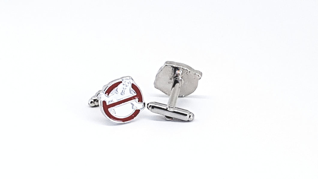 Silver and Red Ghost Busters Cufflinks - Crazy Cuffs