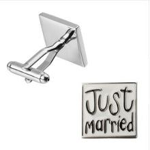 Load image into Gallery viewer, Just Married Cufflinks - Crazy Cuffs
