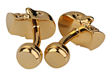 Load image into Gallery viewer, Gold Tone Skull Cufflinks