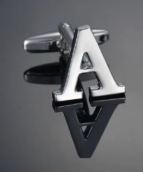 Single Letter A Cufflink - Crazy Cuffs