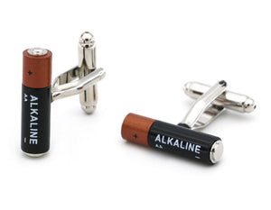 Alkaline Battery Cufflinks - Crazy Cuffs
