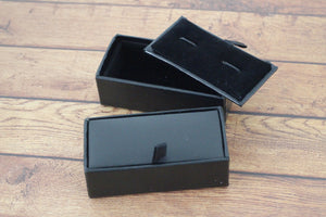 Black and White Rectangle Cufflinks - Crazy Cuffs