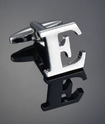Single Letter E Cufflink - Crazy Cuffs