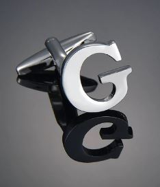 Single Letter G Cufflink - Crazy Cuffs