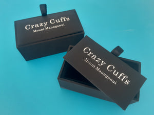 Stylish Blue Hour Glass Cufflinks - Crazy Cuffs