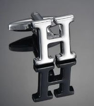 Load image into Gallery viewer, Single Letter H Cufflink - Crazy Cuffs