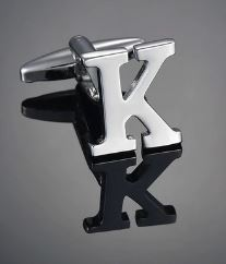 Single Letter K Cufflink - Crazy Cuffs