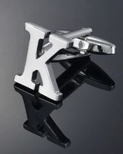 Load image into Gallery viewer, Single Letter K Cufflink - Crazy Cuffs