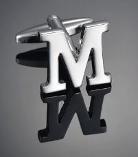 Single Letter M Cufflink - Crazy Cuffs